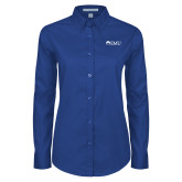 Ladies Royal Twill Button Down Long Sleeve-Institutional Logos