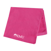 Pink Beach Towel-Institutional Logos