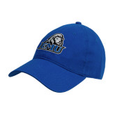 Royal Twill Unstructured Low Profile Hat-EMU w/ Lion Head