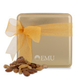 Deluxe Nut Medley Gold Medium Tin-Institutional Logos Engraved