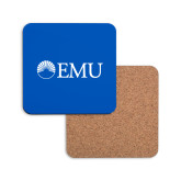 Hardboard Coaster w/Cork Backing-Institutional Logos