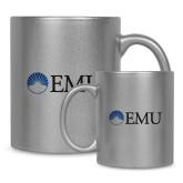 Full Color Silver Metallic Mug 11oz-Institutional Logos