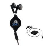 Black Retractable Ear Buds-EMU w/ Lion Head