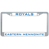 Metal License Plate Frame in Chrome-Royals