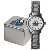 Mens Stainless Steel Fashion Watch-EMU w/ Lion Head