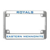 Metal Motorcycle License Plate Frame in Chrome-Royals