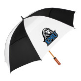 62 Inch Black/White Umbrella-EMU w/ Lion Head