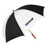 64 Inch Black/Whit Umbrella-Institutional Logos