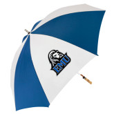 62 Inch Royal/White Umbrella-EMU w/ Lion Head