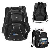 High Sierra Swerve Black Compu Backpack-Institutional Logos