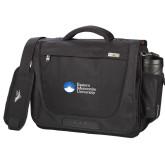 High Sierra Black Upload Business Compu Case-University Logo