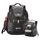 High Sierra Big Wig Black Compu Backpack-Institutional Logos