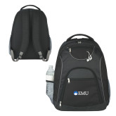 The Ultimate Black Computer Backpack-Institutional Logos