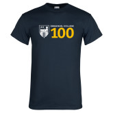 Navy T Shirt-Emmanuel College 100