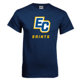 Navy T Shirt-EC Saints