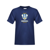 Youth Navy T Shirt-Primary Logo