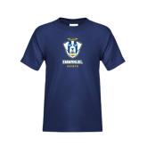 Youth Navy T Shirt-Primary Logo