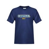 Youth Navy T Shirt-Golf