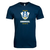 Next Level SoftStyle Navy T Shirt-Primary Logo