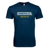 Next Level SoftStyle Navy T Shirt-Secondary Mark