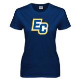 Ladies Navy T Shirt-EC
