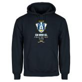 Navy Fleece Hoodie-Emmanuel Field Hockey Club