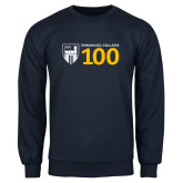 Navy Fleece Crew-Emmanuel College 100