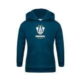 Youth Navy Fleece Hoodie-Primary Logo