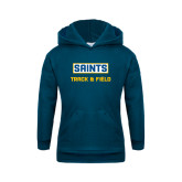 Youth Navy Fleece Hoodie-Track and Field