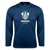 Syntrel Performance Navy Longsleeve Shirt-Primary Logo