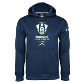 Under Armour Navy Performance Sweats Team Hoodie-Emmanuel Field Hockey Club