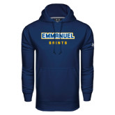 Under Armour Navy Performance Sweats Team Hoodie-Secondary Mark