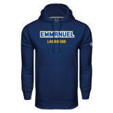 Under Armour Navy Performance Sweats Team Hoodie-Lacrosse