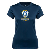 Ladies Syntrel Performance Navy Tee-Primary Logo