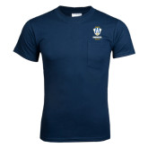 Navy T Shirt w/Pocket-Primary Logo