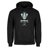 Black Fleece Hoodie-Emmanuel Field Hockey Club