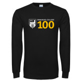 Black Long Sleeve T Shirt-Emmanuel College 100