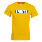 Gold T Shirt-Saints