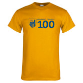 Gold T Shirt-Emmanuel College 100