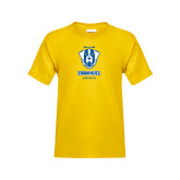Youth Gold T Shirt-Primary Logo