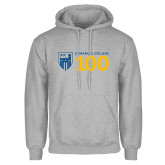 Grey Fleece Hoodie-Emmanuel College 100