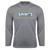 Syntrel Performance Steel Longsleeve Shirt-Saints