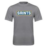 Performance Grey Concrete Tee-Saints