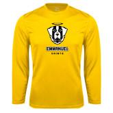 Syntrel Performance Gold Longsleeve Shirt-Primary Logo