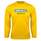 Syntrel Performance Gold Longsleeve Shirt-Secondary Mark