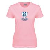 Ladies Pink T-Shirt-Primary Logo