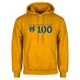 Gold Fleece Hoodie-Emmanuel College 100