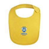 Yellow Baby Bib-Primary Logo