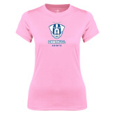 Ladies Performance Light Pink Tee-Primary Logo