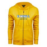 ENZA Ladies Gold Fleece Full Zip Hoodie-Secondary Mark